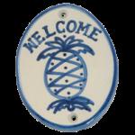 Hadley pineapple welcome plaque
