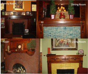 four room mantels before