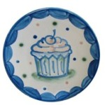 Hadley Pottery stoneware cupcake plate