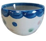 Hadley Pottery stoneweare ice cream bowl